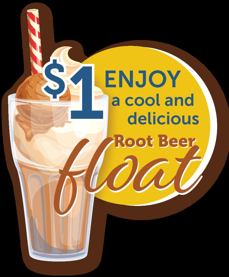 Enjoy a $1 Root Beer Float